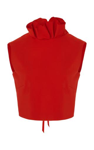 Medium semsem red camille ruffle top