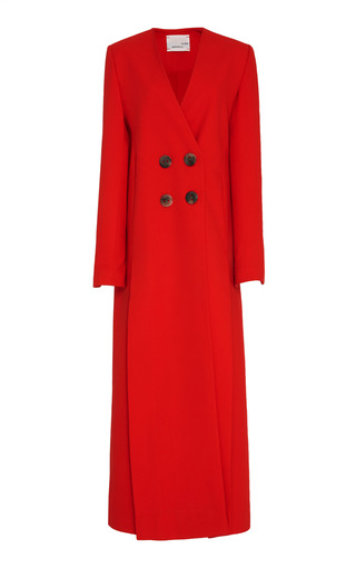 Medium bouguessa red four slits long blazer