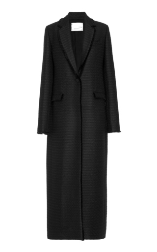 Medium bouguessa black tweed long blazer