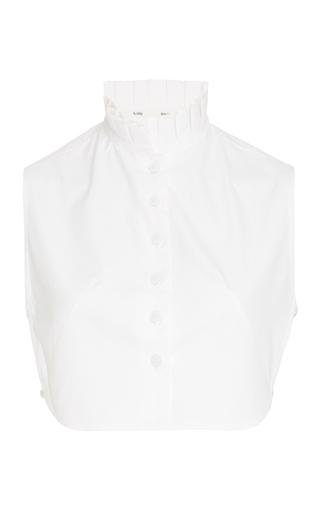 Medium bouguessa white sleeveless ruffled crop top
