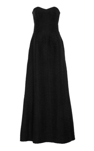 Medium bouguessa black sweetheart tweed gown
