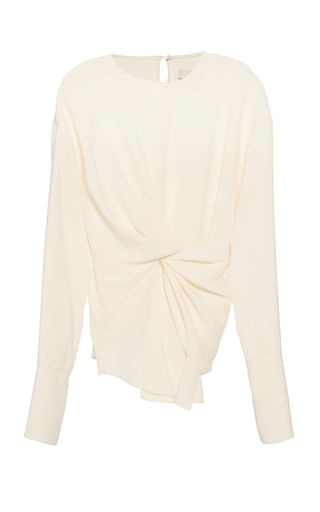 Medium yeon white mishi ruched front top