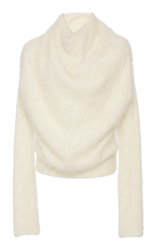 Medium yeon white naomi cowl neck sweater