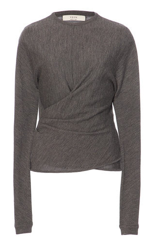 Medium yeon grey misaki long sleeve top