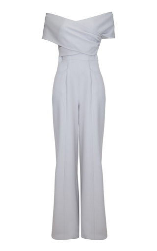Medium safiyaa grey monosa off the shoulder jumpsuit
