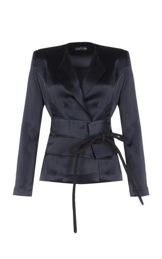 Medium safiyaa black obi pointed lapel jacket