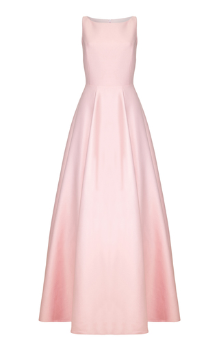 Medium safiyaa pink garland long maxi dress