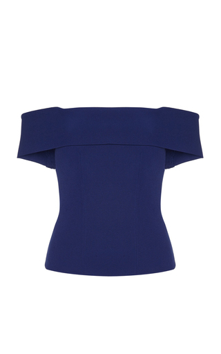 Medium safiyaa blue orika off the shoulder top