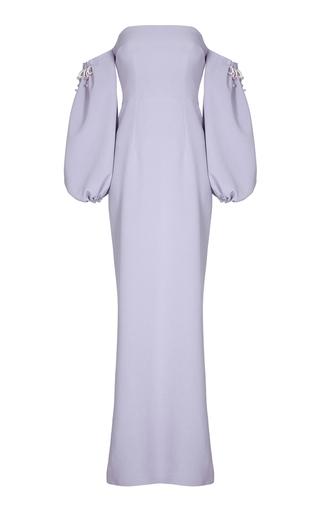 Medium safiyaa purple jade off the shoulder puff sleeve dress