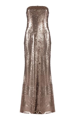 Medium safiyaa gold linneara strapless sequin dress