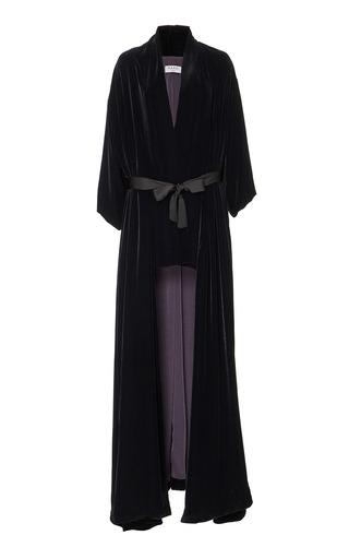 Medium marei 1998 black laurel velvet kimono