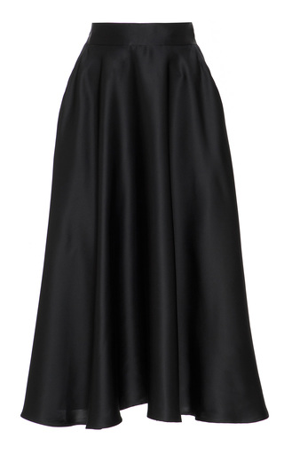Medium marei 1998 black poinsettia silk skirt