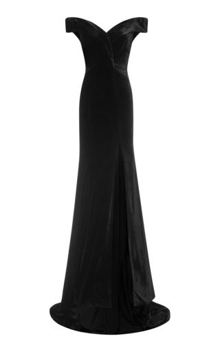 Medium rachel gilbert black violetta gown