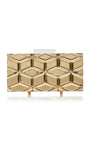 Medium l afshar gold medium bianca gold mirror clutch