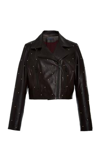 Medium zeynep arcay purple pearl embroidered biker jacket