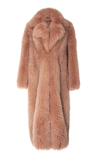 Medium zeynep arcay pink long fox fur coat