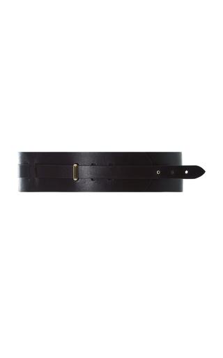 Medium zeynep arcay purple double strap leather belt