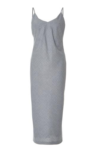 Medium zeynep arcay blue plaid cotton slip dress