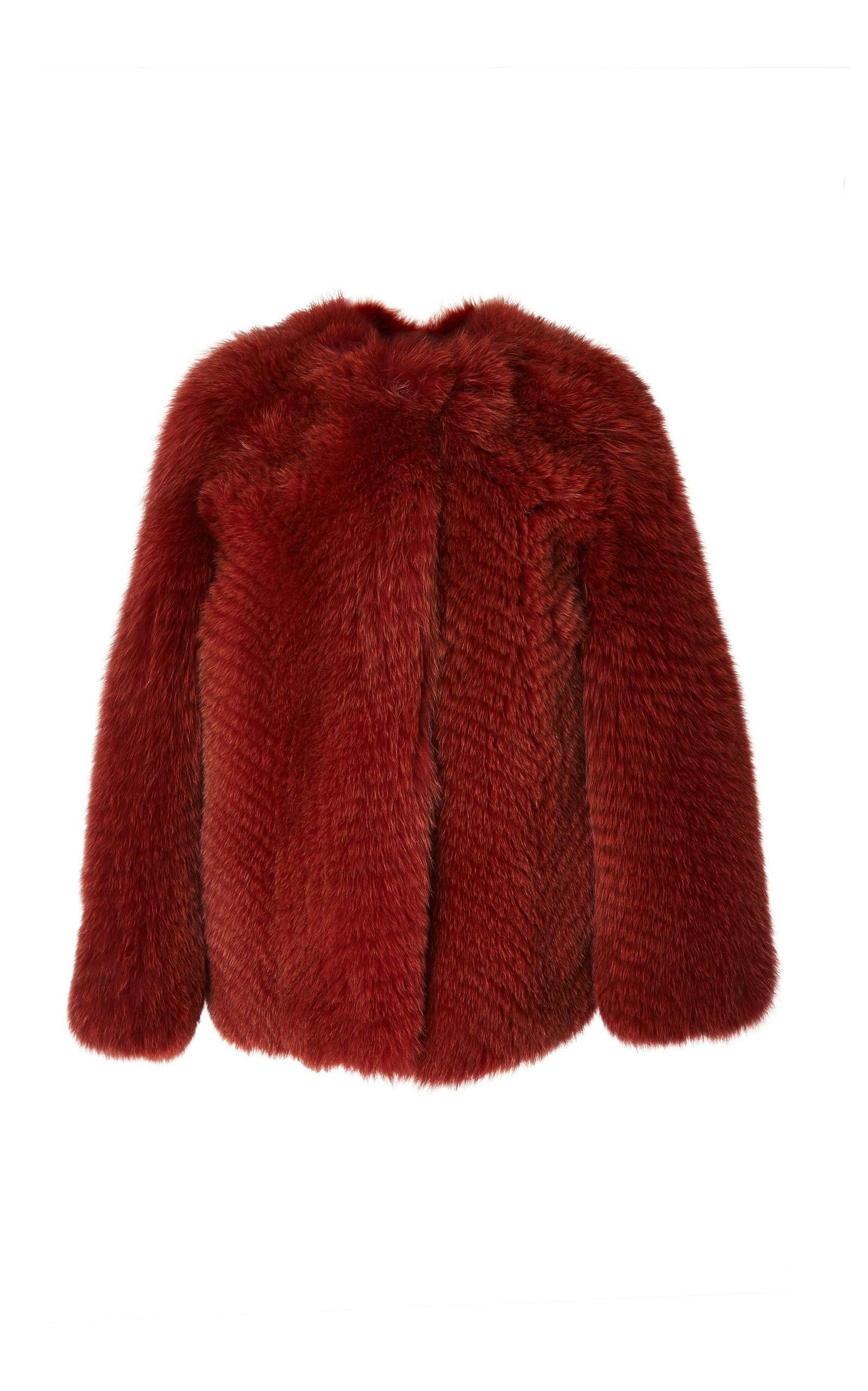 ffec6e1e4 Collarless Fox Fur Jacket by Zeynep Arçay   Moda Operandi