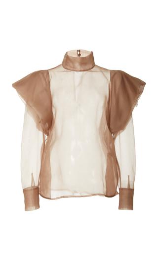 Medium zeynep arcay neutral organza big shoulder top