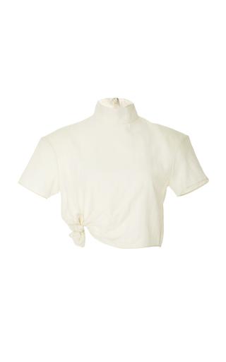 Medium zeynep arcay white cashmere crop top