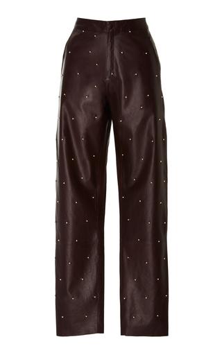 Medium zeynep arcay purple pearl embroidered leather pant