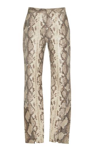 Medium zeynep arcay animal snake print leather pants