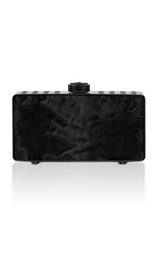 Medium bougeotte black titanium best secret keeper clutch in black swakara