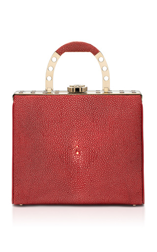 Medium bougeotte burgundy titanium best secret keeper midi purse in bordeaux galuchat