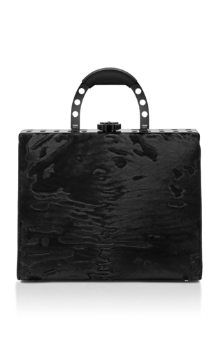 Medium bougeotte black titanium best secret keeper purse in black swakara
