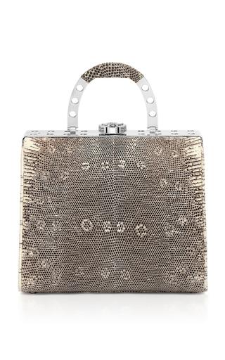 Medium bougeotte silver titanium best secret keeper midi purse in natural lizard