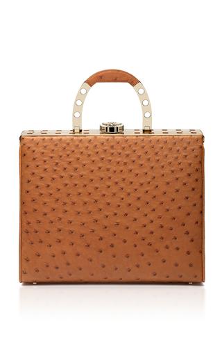 Medium bougeotte brown titanium best secret keeper purse in cognac ostrich