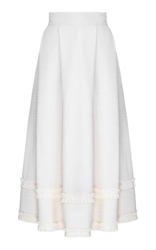 Medium flow the label neutral creme pleated ruffle circle skirt