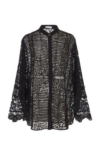 Medium martha medeiros black janaina martha lace shirt