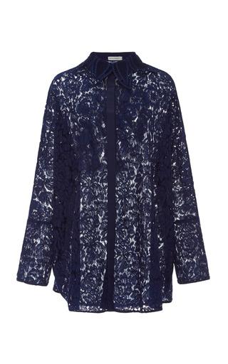 Medium martha medeiros navy janaina lace shirt