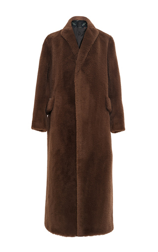 Medium lake studio brown faux fur coat