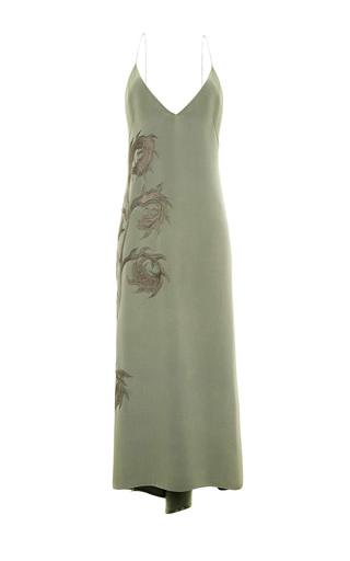 Medium lake studio green embroidered camisole slip dress