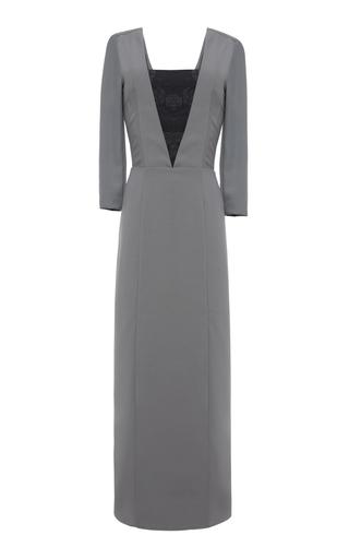 Medium lake studio grey geometric panel dress