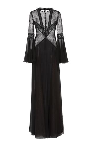 Medium georges hobeika black long sleeve tulle illusion dress