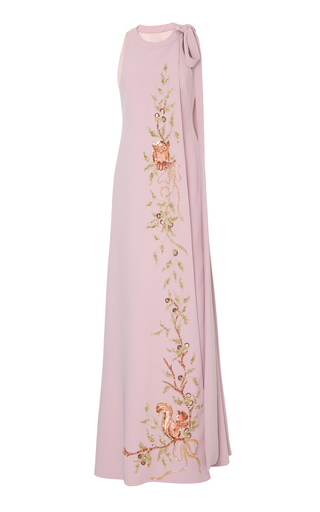 Medium georges hobeika pink neck tie sleeveless dress