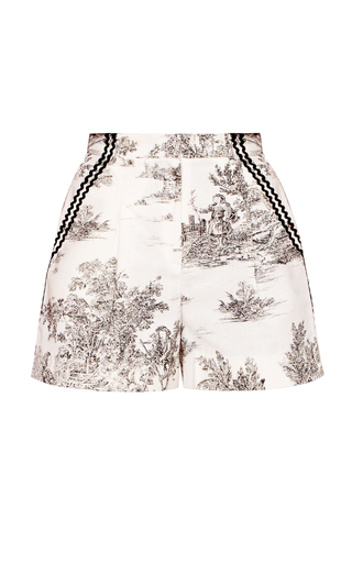 Medium marianna senchina print high waist toile shorts