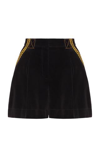 Medium marianna senchina black velvet high waisted shorts