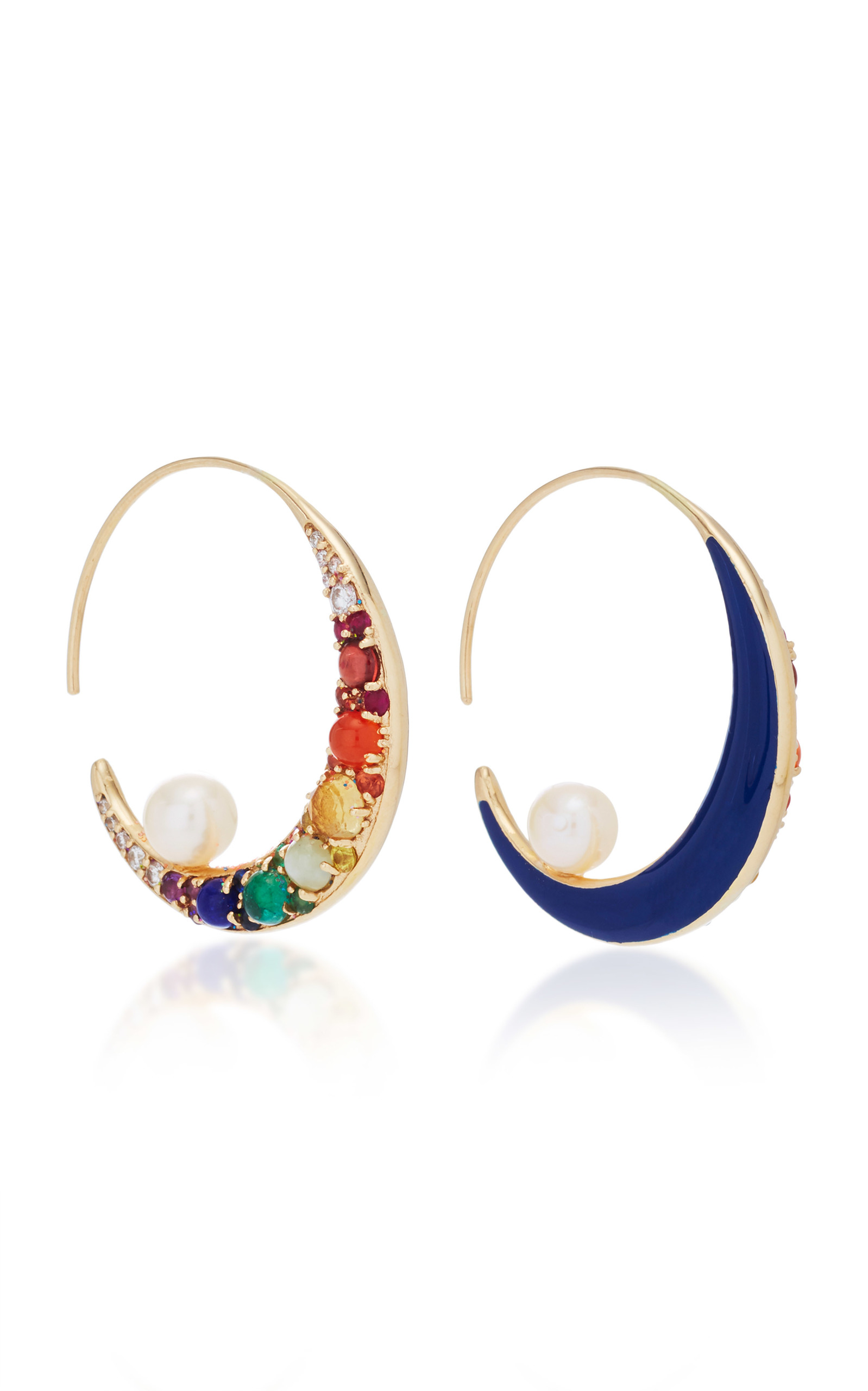 white moon products orbiting jewelry colette earrings