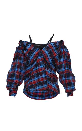 Medium anna october plaid off the shoulder plaid shirt