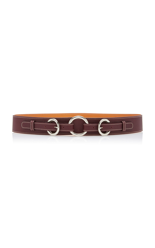 MO exclusive Oval Ring Leather Belt Maison Vaincourt hLN91rPue5