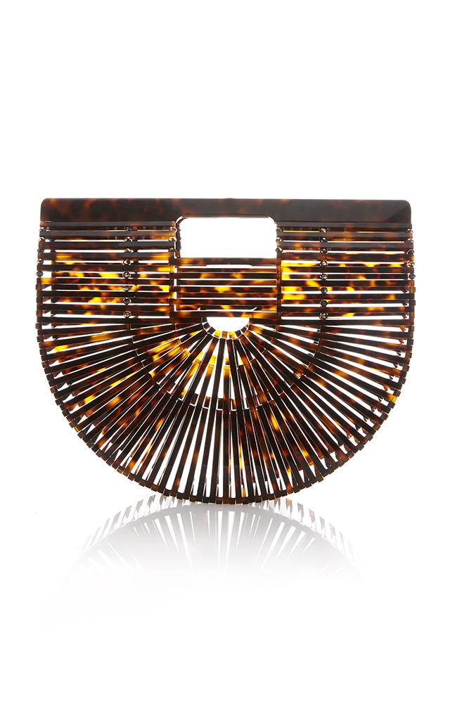 Tortoise Acrylic Small Ark Bag in Brown