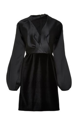 Medium bibhu mohapatra black vandas a line dress