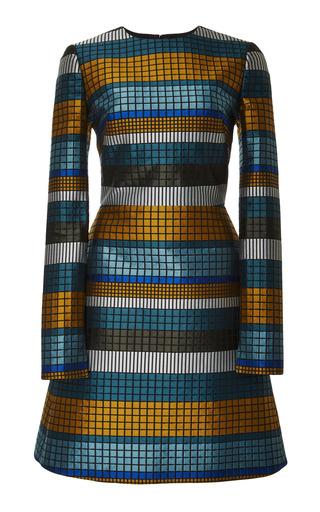 Medium bibhu mohapatra multi mosaic long sleeve dress