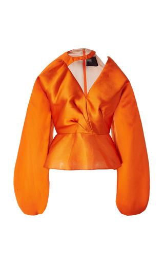 Medium bibhu mohapatra orange vandas blouse