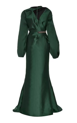 Medium bibhu mohapatra green vanda s gown